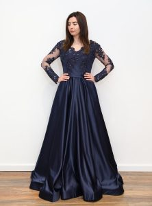 8db213b8ad4 ... navy blue off-shoulder sequin embellished pephem midi dress. € 90